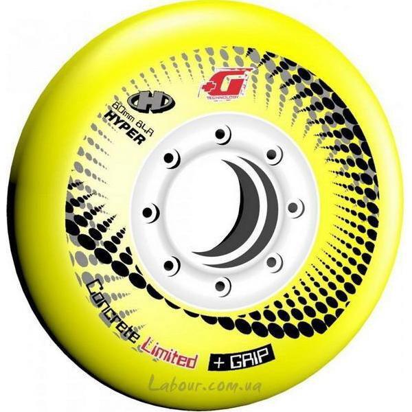 Колеса для роликовых коньков купить Hyper Concrete+Grip(Yellow) '15