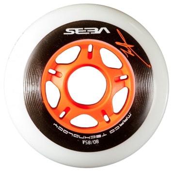 Колеса для роликовых коньков купить Seba White & Orange ' 10jpg